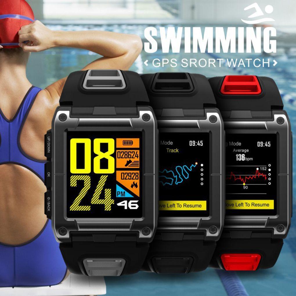 80d1ba5a7445 Relojes Bluetooth Hombres GPS Natación Deporte Reloj Inteligente IP68  Impermeable Sueño Termómetro De Ritmo Cardíaco Altímetro Podómetro Smartwatch  Watch ...