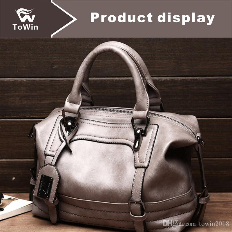 2019 Brand New Style Boston Bag Pillow Female Handbag Single Shoulder Bag  Women Inclined Across Boston PU Leather Designer Tote Wallet Purse 2019  From ... df8ffb882cbc
