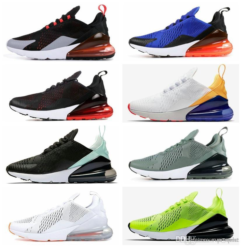 2019 New 270 Total Orange Hot Punch Foto Blau Laufschuhe Triple White University Rot Oliv Volt Habanero 27C Flair 270s Sneakers 36 45