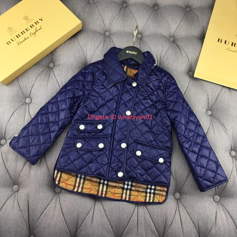 Children jacket kids designer clothing winter cotton coat coat inner plaid cotton boys and girls zipper closed jacket