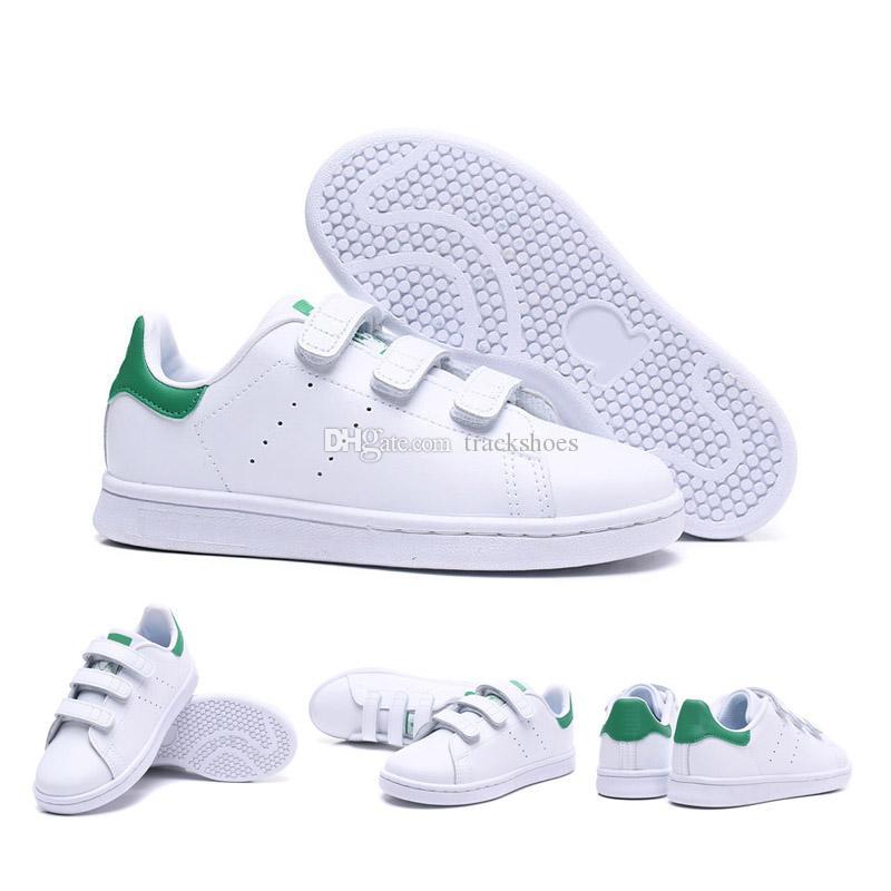 size 40 0f4fd eb087 Novas crianças smith crianças pai-filho sapatos casuais para o bebê menino  menina fashion stan sneaker branco multi running trainer ao ar livre sapato  22-35