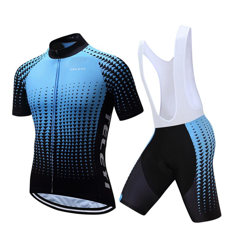 5195a1375 Teleyi Cycling Jerseys Set Mountain Bike Clothes Sportswear Racing ...
