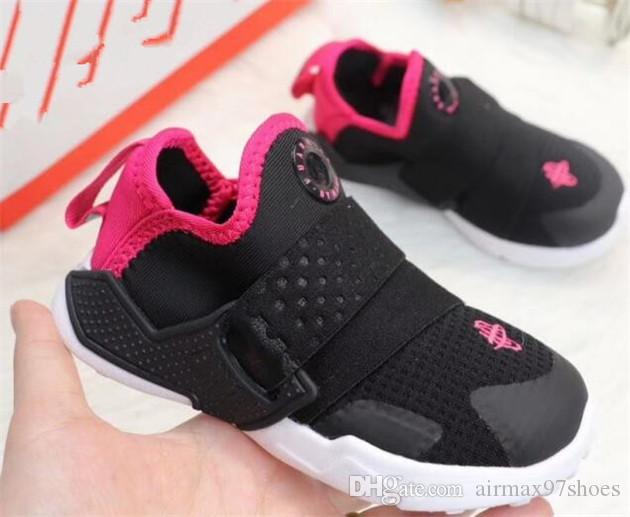 premium selection 1a0be 5eaab 2019 newest huarache 6 Kids Designer Shoes Parent Lovely Children Boys  Girls Black Red White pink Trainers huaraches toddler Sneakers