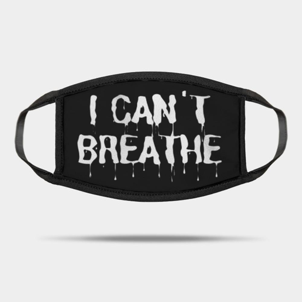 Novo eu não posso respirar máscaras Máscaras Lavável Dustproof Verão Out Door Esporte equitação Máscara Moda Anti Poeira reutilizável para adultos em da