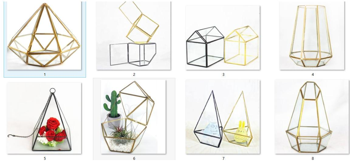 Wholesale New Design and High Quality Triangular Pyramid Shaped Hanging Modern Metal Geometric Candle Holders with Size L15cmxB15cmxH20cm