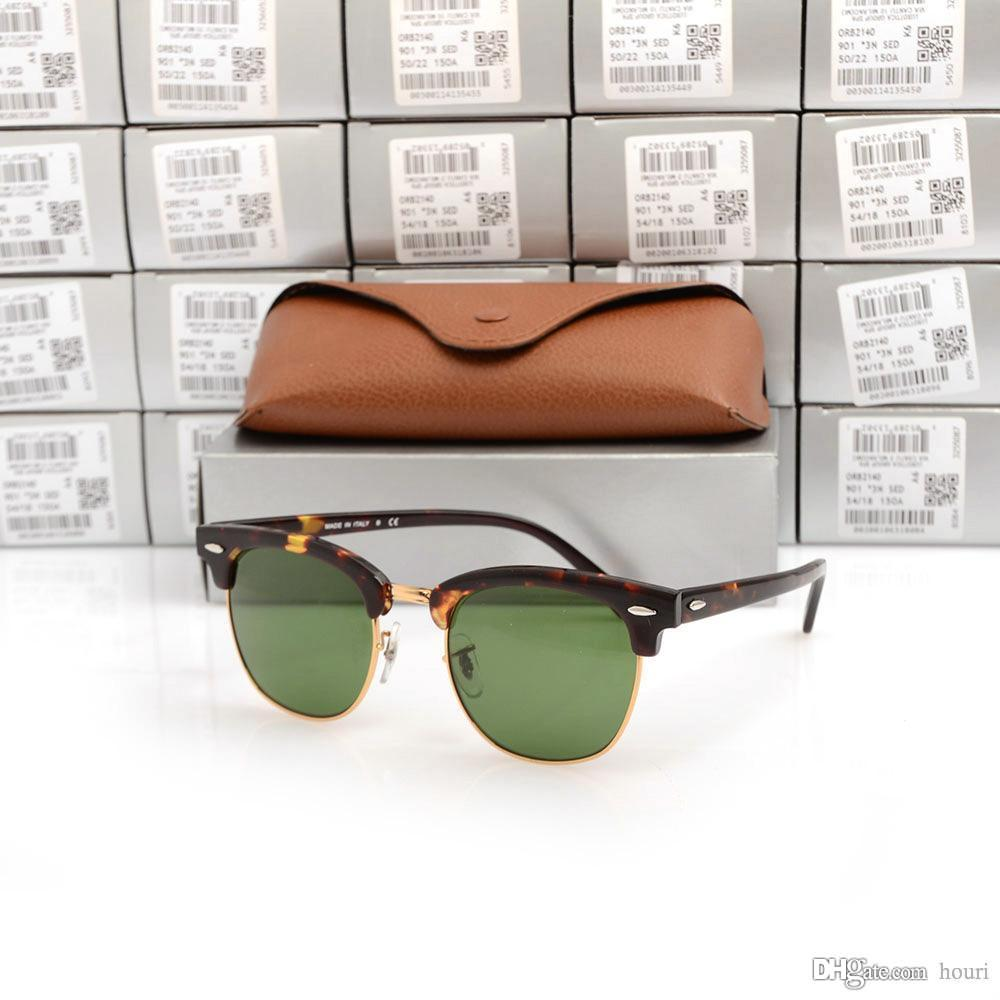 73ae3c6ee High Quality Club Sunglasses Metal Hinge Plank Tortoise Frame Green Lens  UV400 Sunglasses Black Sun Glasses Mens Womens Brand Sunglasses Box Brand  Designer ...