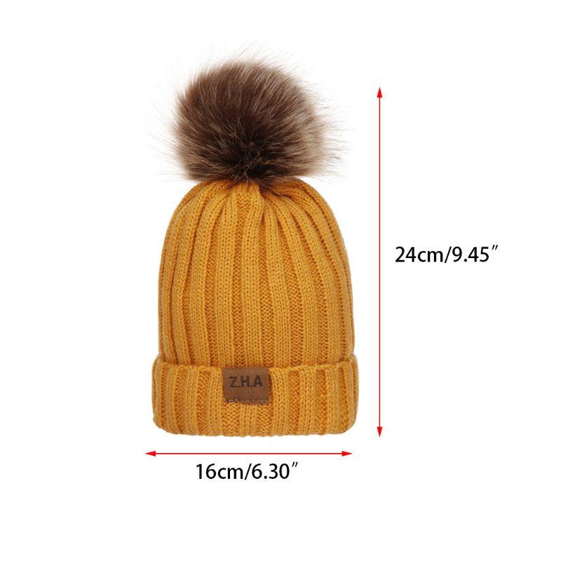 efd1ccccb24 Women Men Winter Ribbed Knitted Hat Solid Color Plain Woolen Cuffed ...