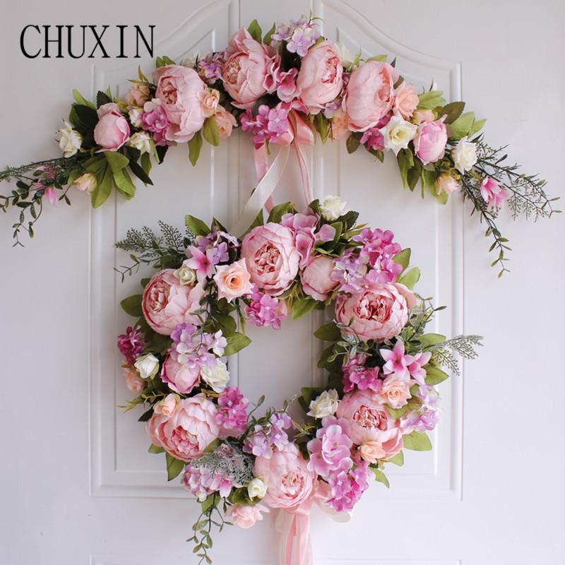 Awe Inspiring Rtificial Silk Rose Lintel Home Bedroom Door Mirror Front Flower Wedding Scene Wall Decoration Fake Flower Christmas T 1Pc Artificial Home Remodeling Inspirations Cosmcuboardxyz