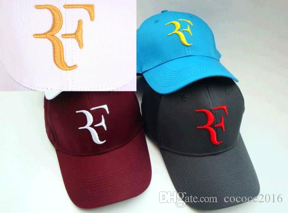 8772e4508e5 White Federer RF Tennis Hat Cap Summer Men Baseball Cap Cotton Hunting Hat  Outdoor New York Cool Caps Flat Brim Hats From Cococe2016