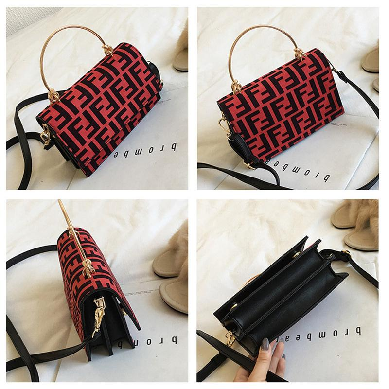 940f6f26e388a 2019 Women F Letters PU Handbag Metal Handle Belt One Shoulder Bag Crossbody  Messenger Bag Lady Zipper Tote Wallet Purse Travel Storage Bags C483 From  ...