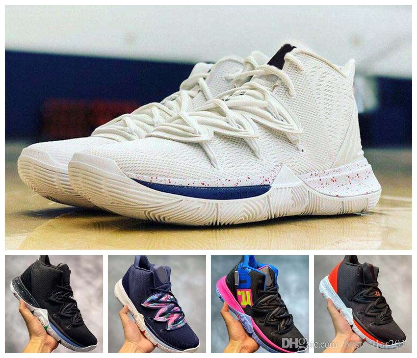 67fdafc9bd9b 2019 Limited 5 5s Basketball Shoes Black Magic For Hot Kyrie Chaussures De  Basket Ball Mens Trainers Sneakers Zapatillas With Box 7 12 Kids Basketball  Shoes ...