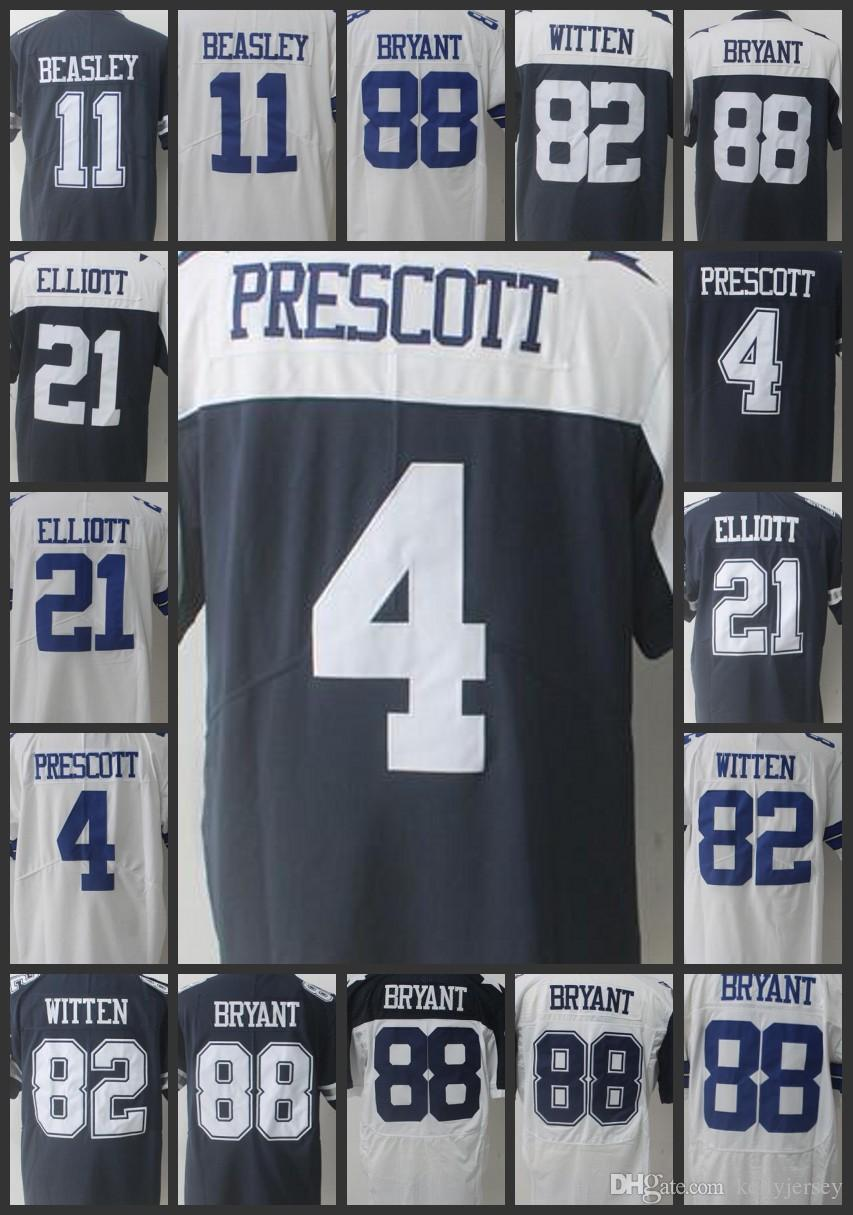 the latest 67a45 91eb6 Dallas Men Cowboys #4 Dak Prescott Women Jerseys 88 Dez Bryant 82 Jason  Witten 21 Ezekiel Elliott 11 Cole Beasley Youth Jersey