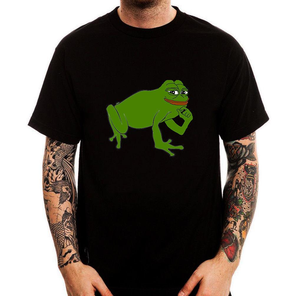 Meme Sad Pepe Internet Cotton Men's Printed T Parody Funny Frog CdeoBx
