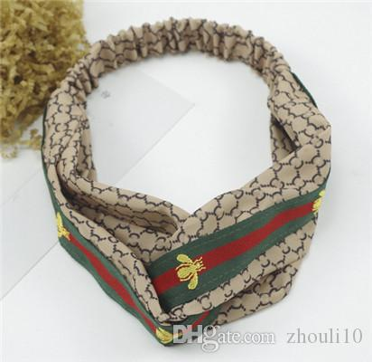 2018 European and American fashion imitation silk lady hair belt, retro pattern, lady decoration,