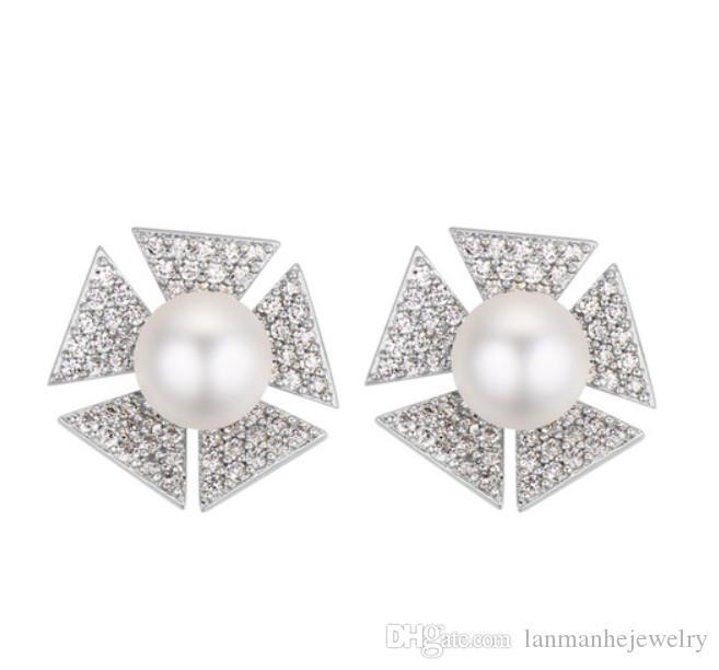 6c27804e7 Stud Earrings Brand New Fashion Women 18K Gold Plated Stud Luxury ...