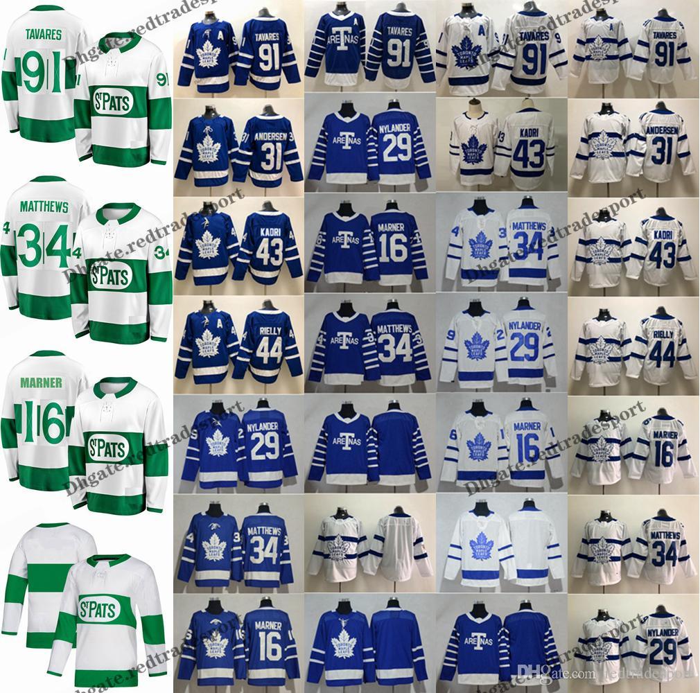 2019 2019 St. Pats Toronto Maple Leafs John Tavares Auston Matthews  Mitchell Marner William Nylander Andersen Morgan Rielly Kadri Hockey Jersey  From ... 21446b342