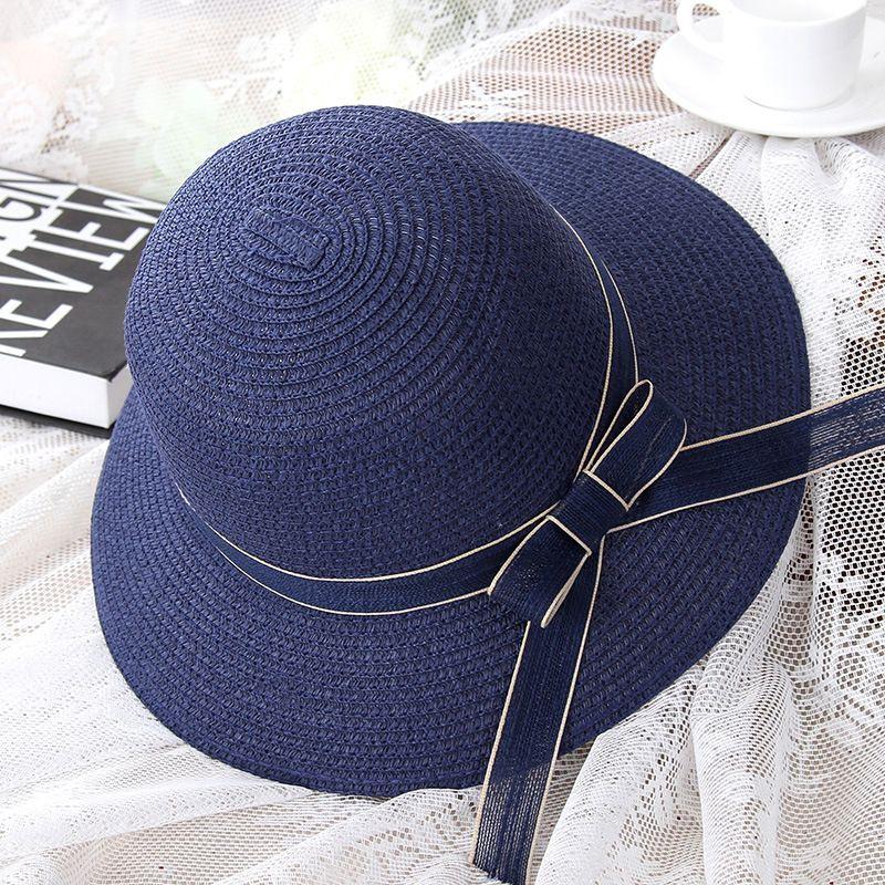 31597ccf39d40 Fashion Parent Child Sun Hat Cute Children Sun Hats Bow Hand Made Women  Straw Cap Beach Big Brim Hat Casual Glris Summer Cap Panama Hat Trilby From  Crazyxb