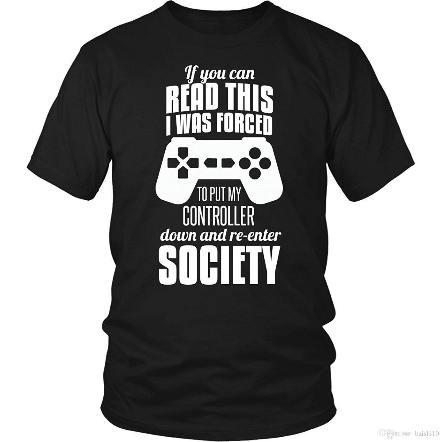 e7afe9f383180c If You Can Read This Gaming T Shirt Short Sleeve Discount 100 % Cotton T  Shirts Cotton Shirts Cheap Wholesale Top Tee Awesome Cheap T Shirts Online  Shopping ...