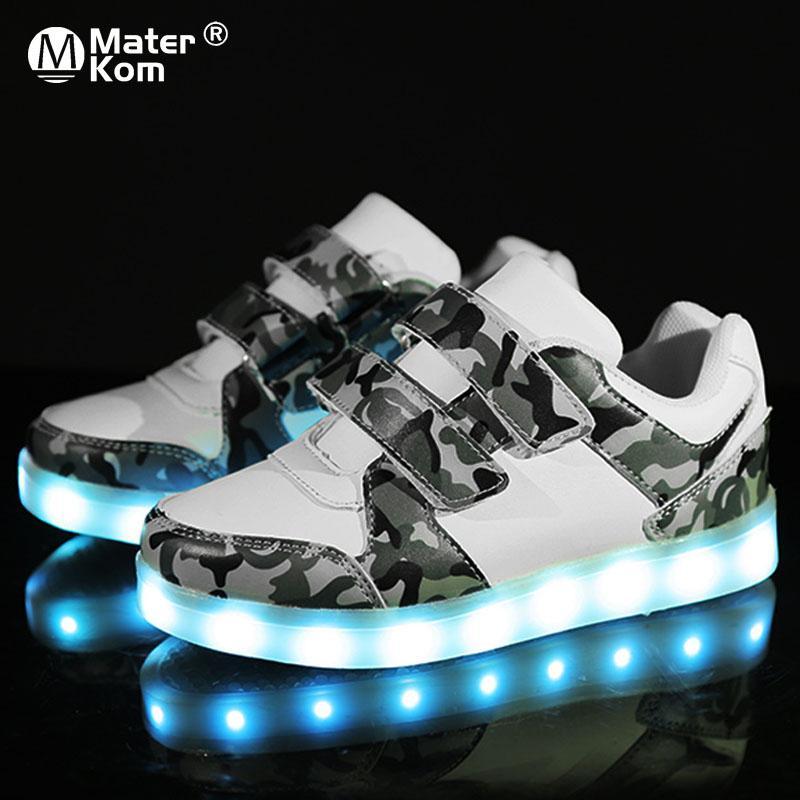50a4e2cf Купить Оптом Размер 25 37 USB Зарядка Детская Обувь Для Мальчиков С ...