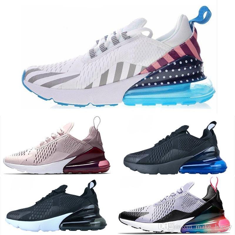 Nike air max 270 27c Mujeres Hombres Zapatos Corrientes Cojín Triple Negro Blanco Tigre Foto Azul Para Hombre Zapatillas De Atletismo Entrenadores