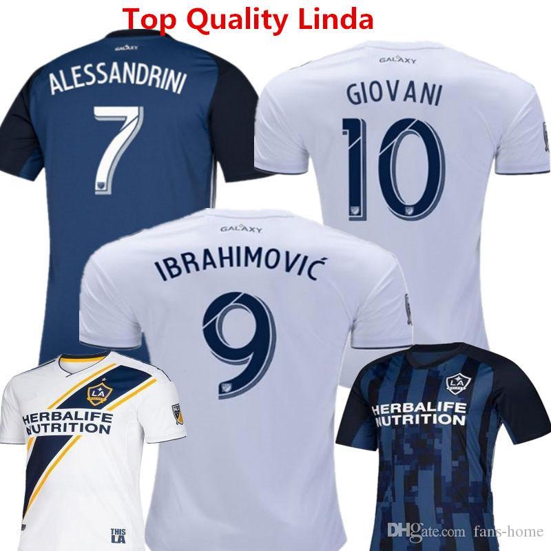 718bb36b8baf 2019 Soccer Jersey Los Angeles Galaxy Camisetas De Futbol 2019 Zlatan  Ibrahimovic Steven Gerrard Donovan Keane Beckham Home White Football Shirts  From Fans ...