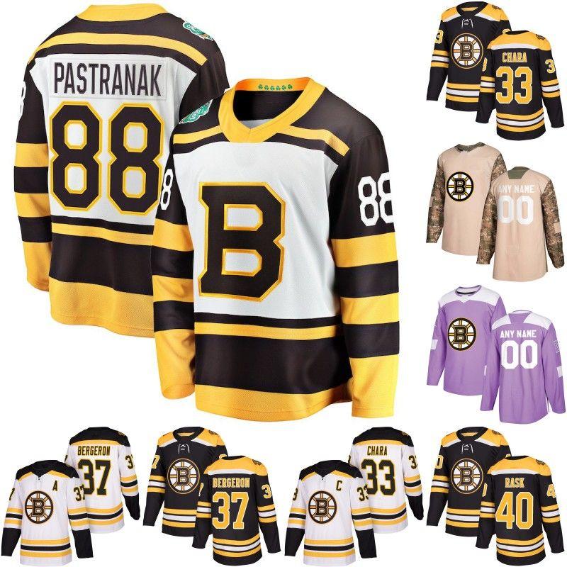 ... uk 2018 boston bruins jersey 33 zdeno chara 37 patrice bergeron 40  tuukka rask 63 brad 01f8090619