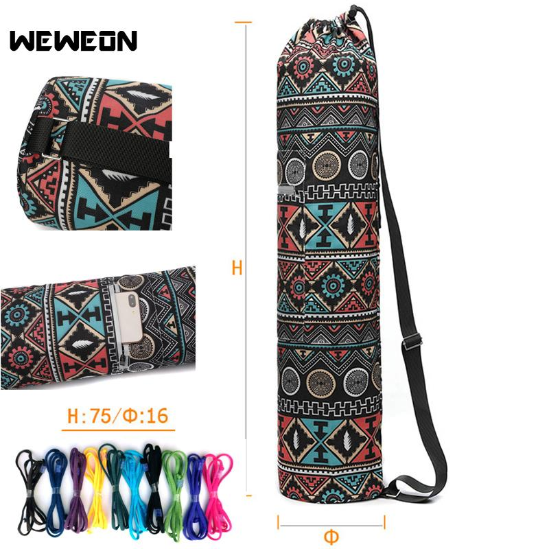 9fa0a488df 2019 Women Pattern Yoga Bag Light Yoga Mat Gym Tote Durable Soft Canvas  Cotton Backpack With Side Pockets Carry Strap Drawstring From Roadsun