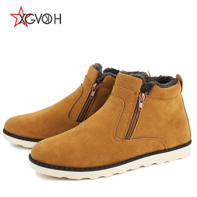 485f1b9f9c2 New Winter Boots Warm Snow Boot Mens Casual Flats Fashion Comfortable Botas  Hombre Plus Size Zapatos De Hombre Zipper Men Shoes