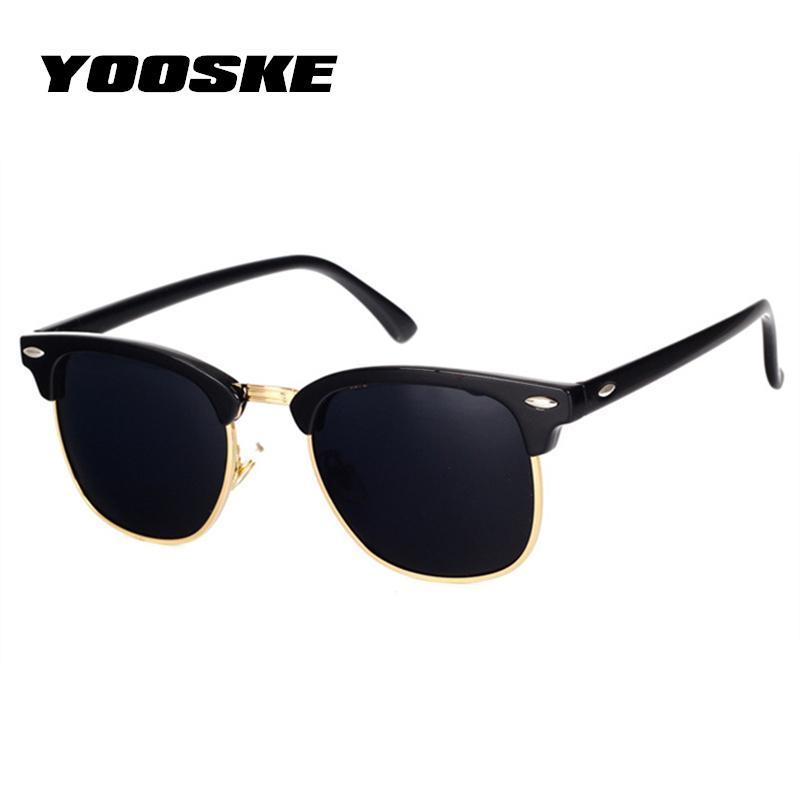 274a5f137 Compre Yooske Clássico Polarizada Óculos De Sol Das Mulheres Dos Homens  Retro Marca Designer De Alta Qualidade Óculos De Sol Feminino Masculino  Moda Espelho ...