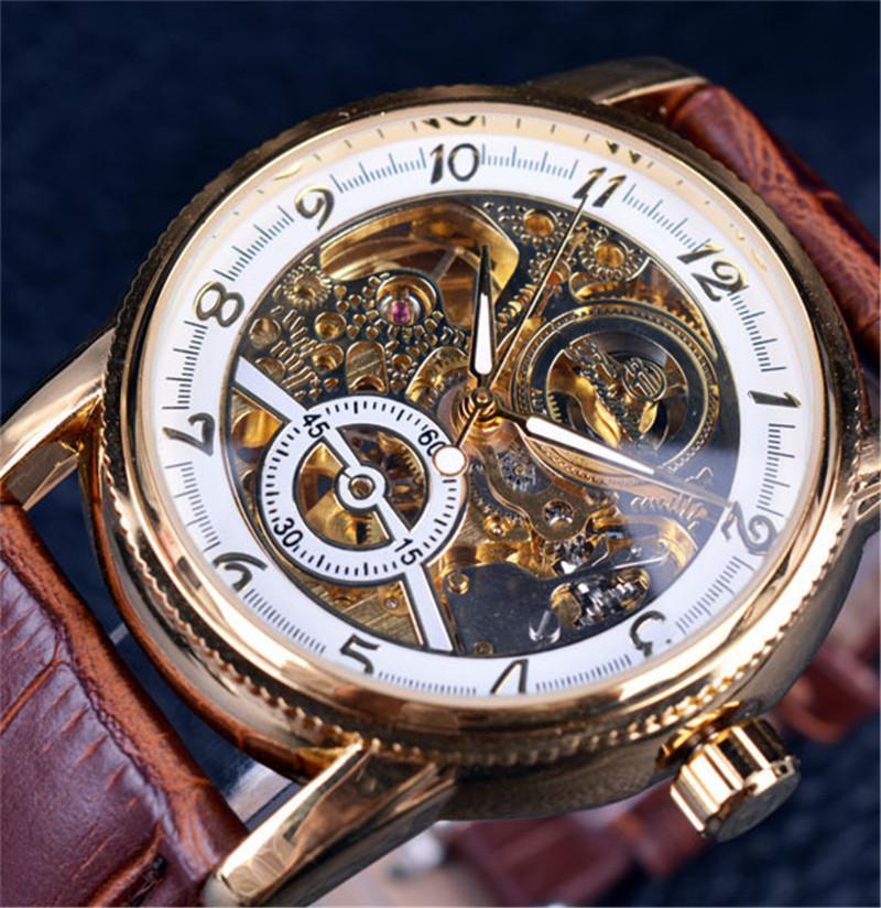 6387c4d1ad9 Compre Novo Homem Moda Lazer Tempo Oco Out Mecânica Automática Superfície  De Pulso Papel Diamante Assista Invicta Relógios Para Mens Marca De Luxo  Master De ...