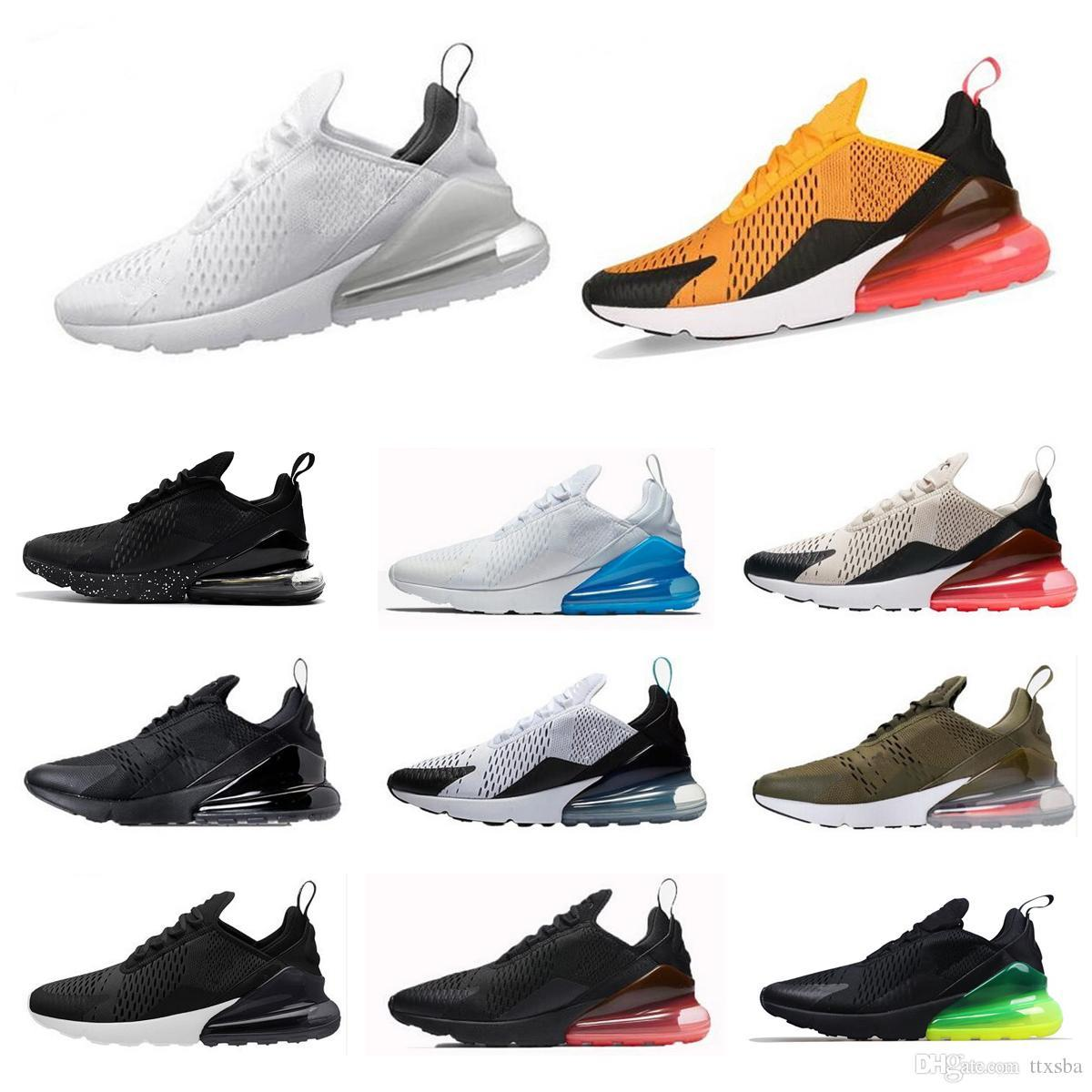 97bd65faaf5b6 Cheap Wholesale Brand New Mens Womens Flair Triple White Black 270 AH8050  Trainer Casual Shoes Training 27C Sports Sneakers Size 36-45