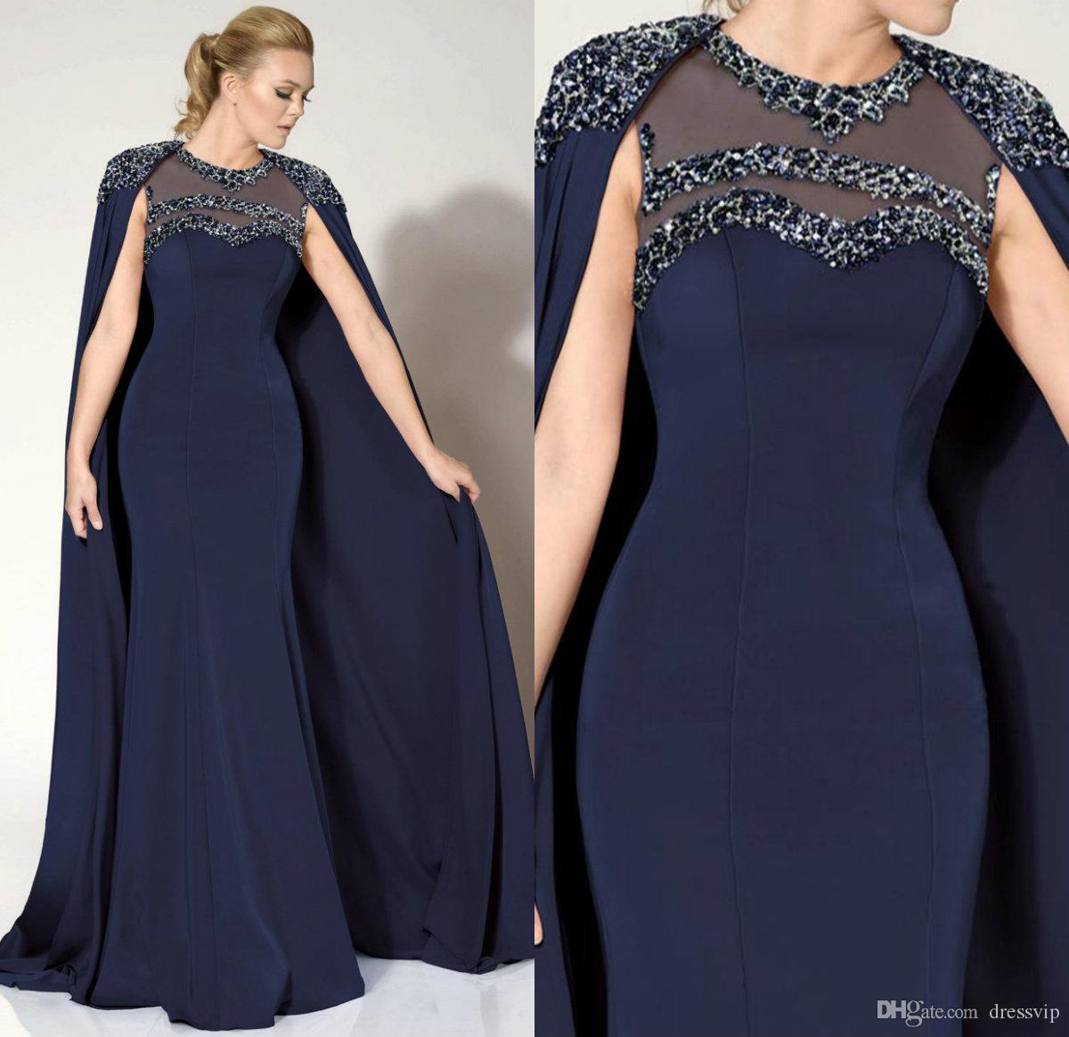 Vestidos de noche color azul marino