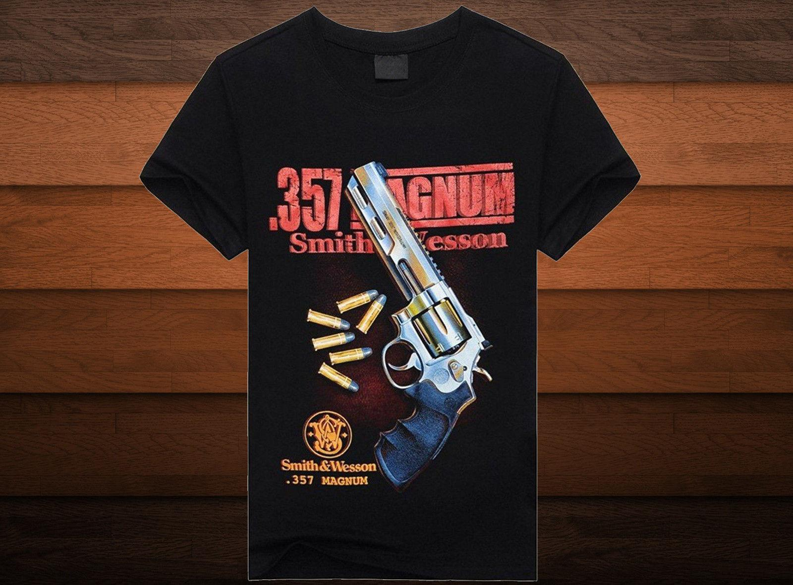 7f06ed60d Cotton Gun Magnum T Shirt Size S/M/L/XL/2XLFunny Unisex Casual Coolest T  Shirts T Shirt Cool From Britwear, $12.96| DHgate.Com