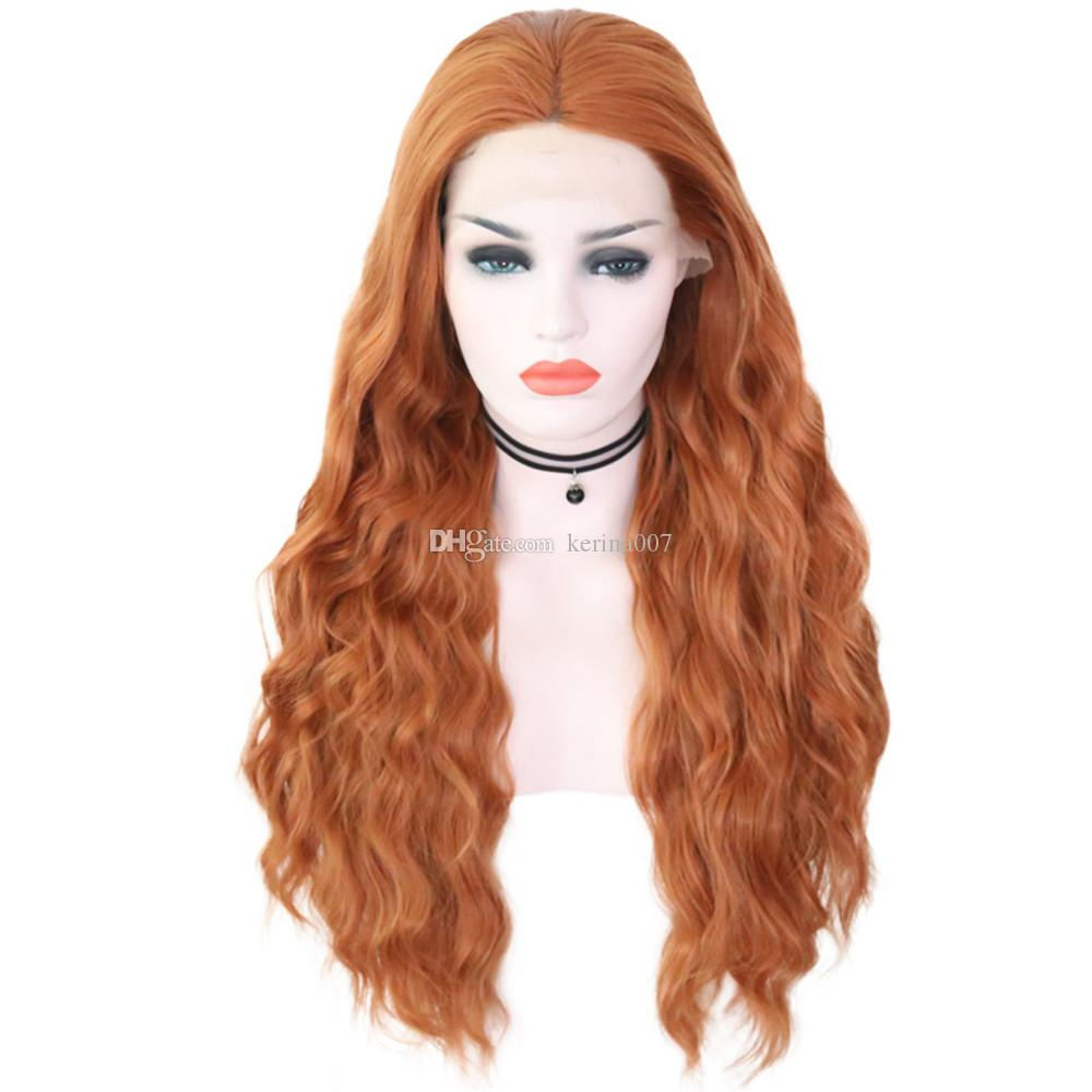 hot sale body wave hair wigs front lace 180% density loose curly hair wigs long hair style quality guaranteed drop shipping