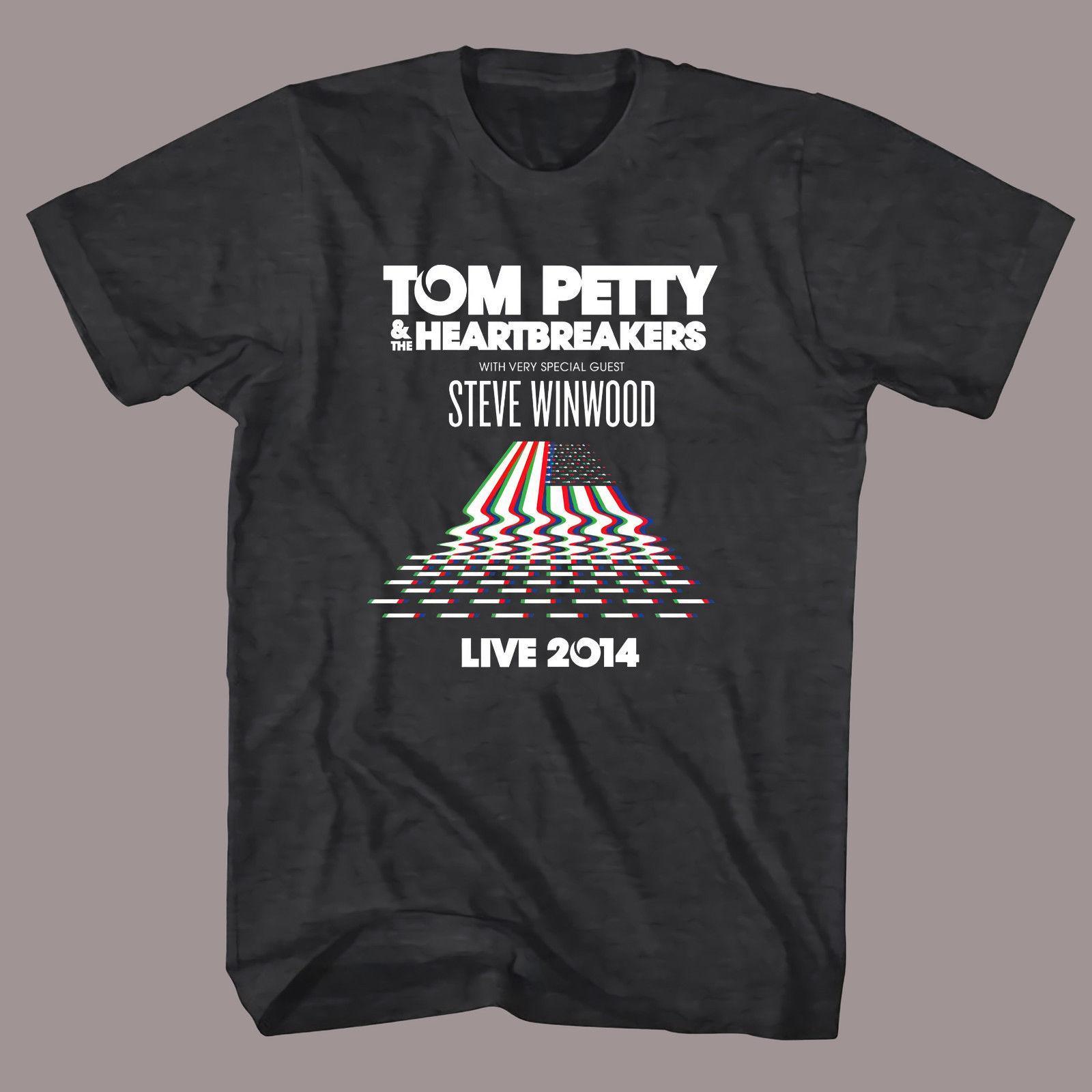 fbc3a7a9b ... THE HEARTBREAKERS Tour Logo Rock Band Men'S Black T Shirt Tee Shirt  Short Sleeve Plus Size T Shirt Colour Jersey Print T Shirt Very Funny T  Shirts Witty ...