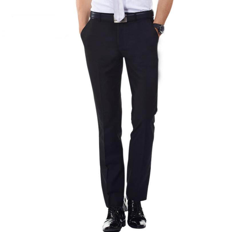 Acquista Nuovi Pantaloni Eleganti Da Uomo Neri Solid Business Casual Slim  Fit Pantalon Pantalone Classico Elastico Di Alta Qualità A  100.04 Dal  Smotthwatch ... 49a09efa77d