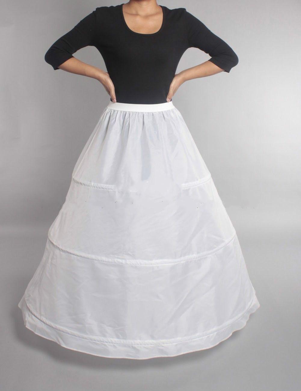 43db0967cac21 White 2 Hoop Bridal Wedding Petticoat Underskirt Prom Skirt Crinoline Slip  Skirt Wedding Gown Petticoat White Petticoats From Shygb1114, $12.07|  DHgate.Com