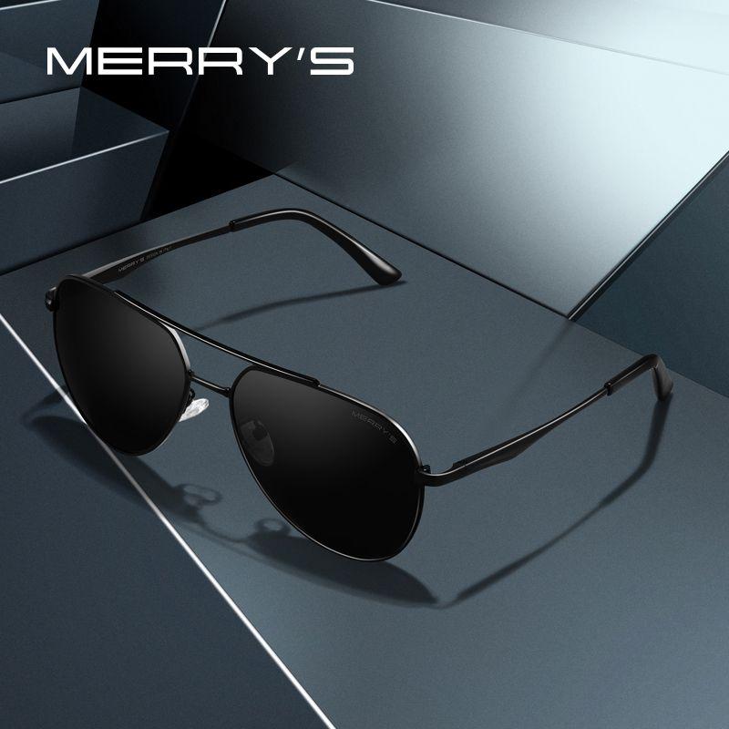 d6fb55367601 Merrys Design Men Classic Pilot Sunglasses Aviation Frame Hd ...