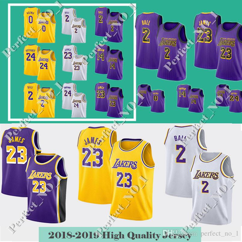 45c1cb9fecc Men's LeBron 23 James Lakers Jersey Los Angeles Basketball Jerseys ...