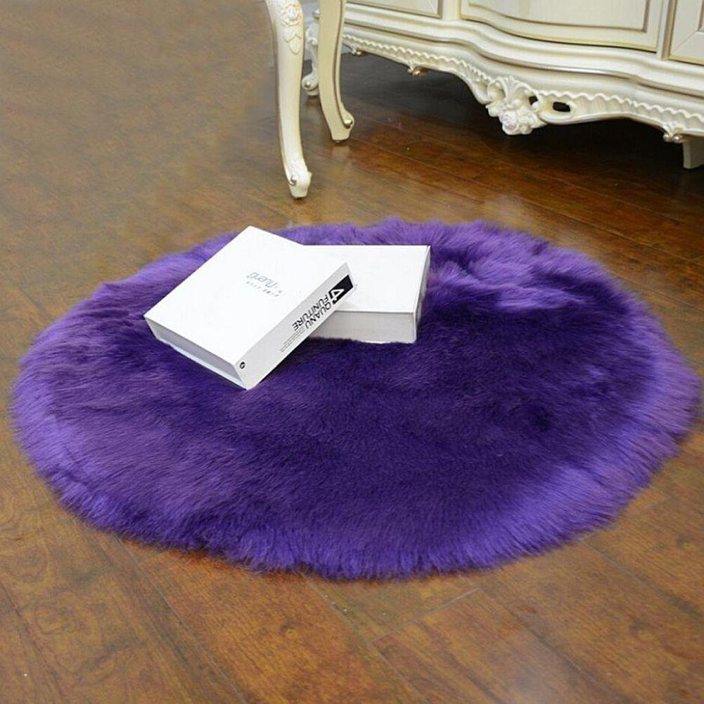 Ialj Top Faux Sheepskin Wool Carpet 30 X 30 Cm Fluffy Soft Longhair