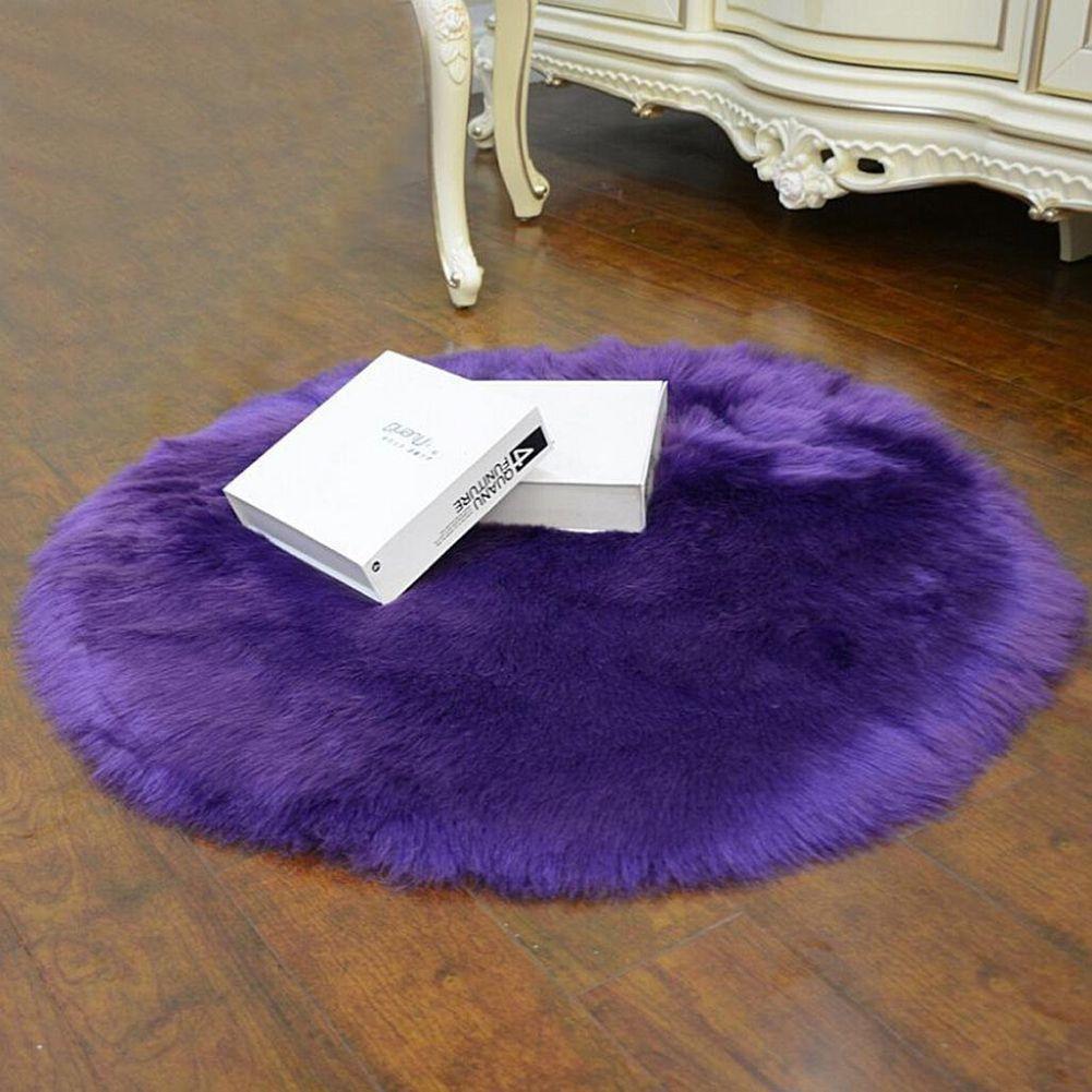 Ialj Top Faux Sheepskin Wool Carpet 30 X 30 Cm Fluffy Soft Longhair