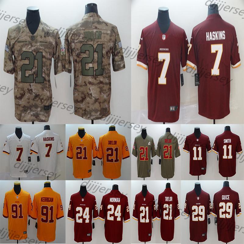 buy popular 869c3 c6ab3 Washington Men s Redskins Jerseys Dwayne Haskins Sean Taylor Ryan Kerrigan  Adrian Peterson Derrius Guic Alex Smith Football Jersey