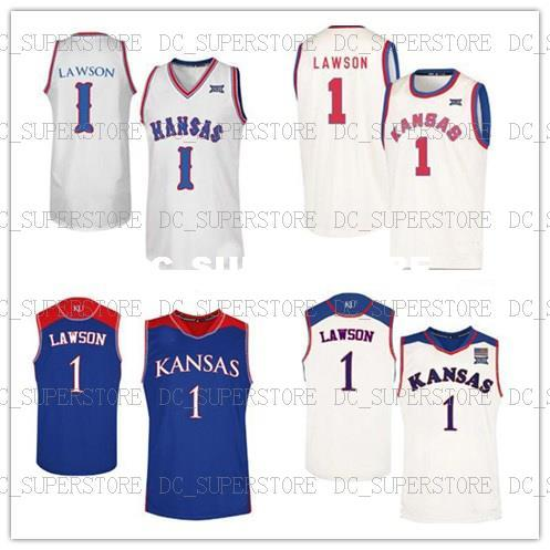 separation shoes 27386 35f09 Kansas Jayhawks Jersey Dedric Lawson College Basketball Jerseys Stitched  Mens Women Youth Custom Any Name Number XS-6XL