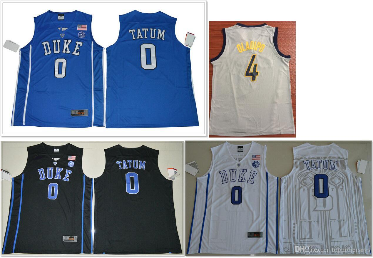brand new f89f2 3dcec 2019 Duke Blue Devils #0 Jayson Tatum Indiana #4 Victor Oladipo Mens  College Basketball Sports Shirts Stitched Embroidery Baseball Jerseys
