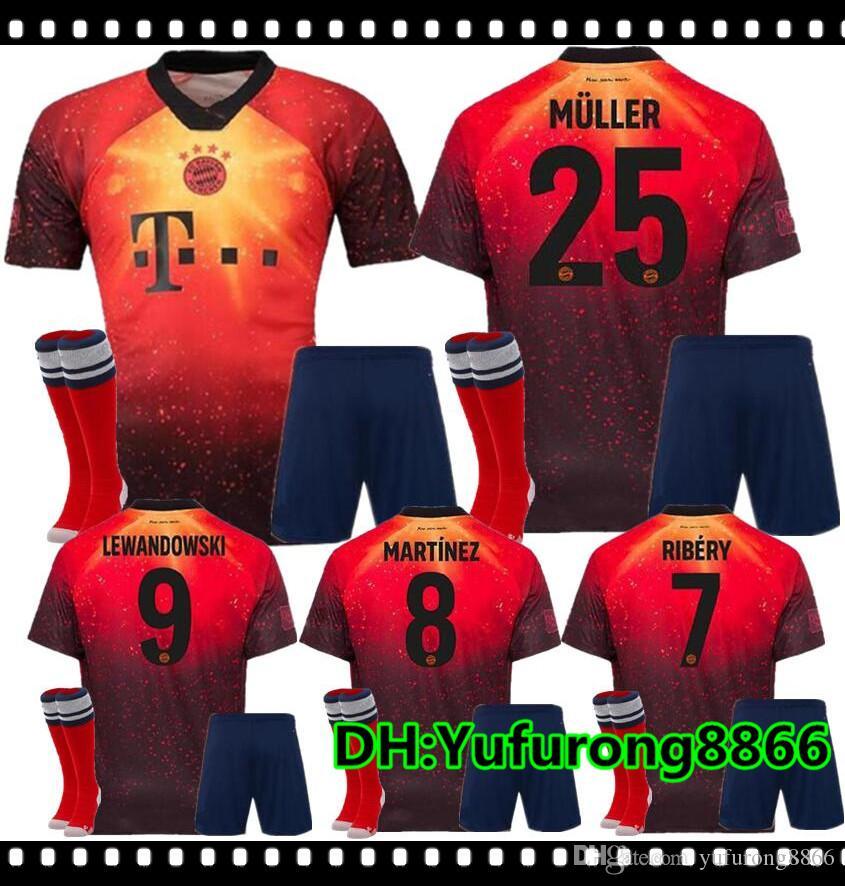 watch 1de1f 20168 Adult Kit 18 19 EA Sports digital INSANE Bayern Munich SOCCER JERSEYS JAMES  2019 MULLER LEWANDOWSKI Special Outstanding football shirts