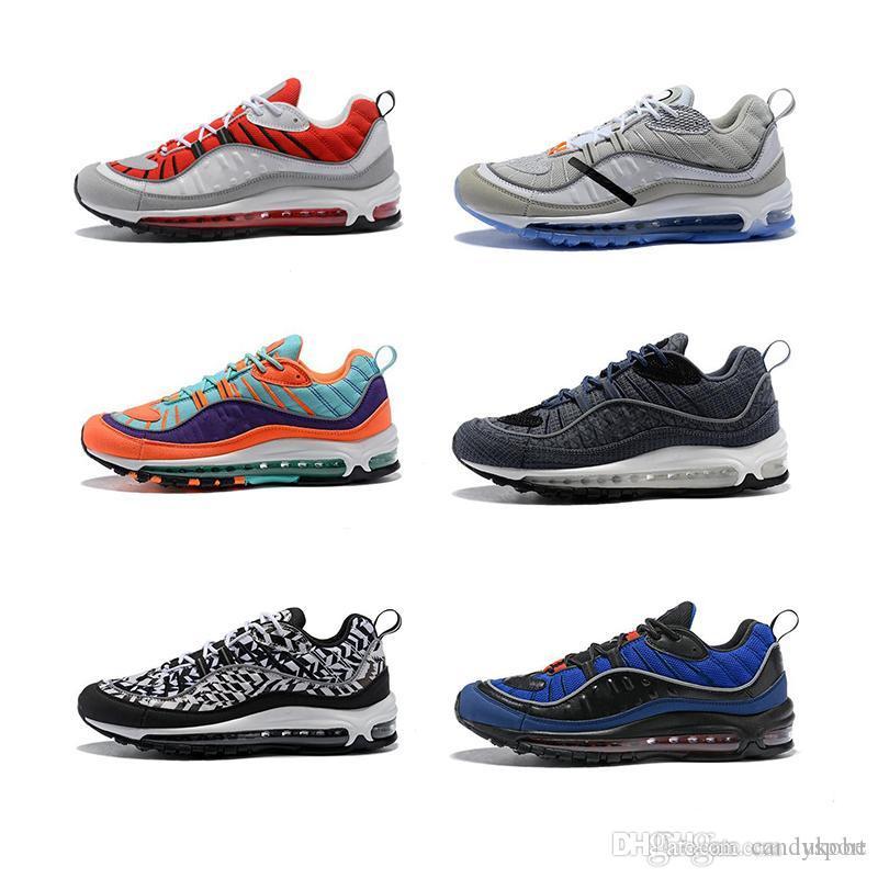 18a1809a Compre Nike Air Max 2018 98 Nueva Moda Estilo Clásico Zapatos Para Hombre  Zapatos Deportivos Auténticos Cojín De Aire Zapatillas Altas Zapatillas De  Deporte ...