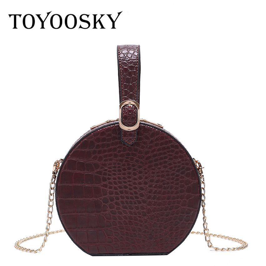 091880d235a9 TOYOOSKY Luxury Handbags Women Alligator Circular Tote Bag Female ...