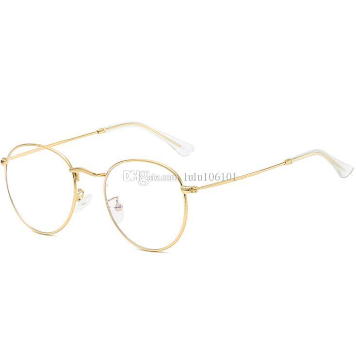 4671550bc3 2019 New Brand Design Plain Glasses Alloy Frame Women Glass Classic Round  Clear Lens Spectacles Elegant Vintage Eyewear Bifocal Sunglasses Retro  Sunglasses ...