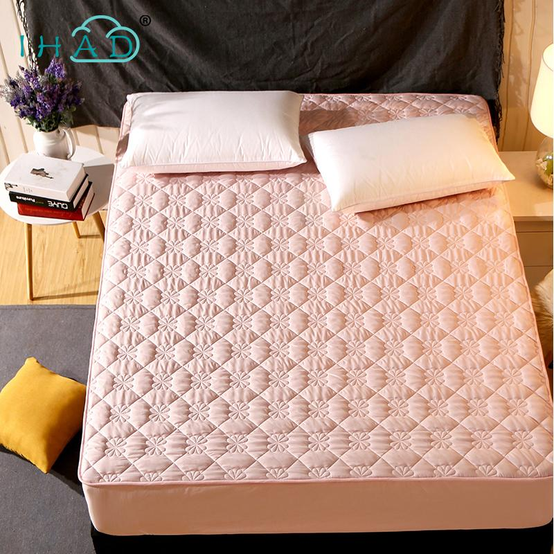 Mattress Protector Cover For Bed Wetting Anti-mite sanding fabric bed mattress cover pad protector sueding padded non-slip