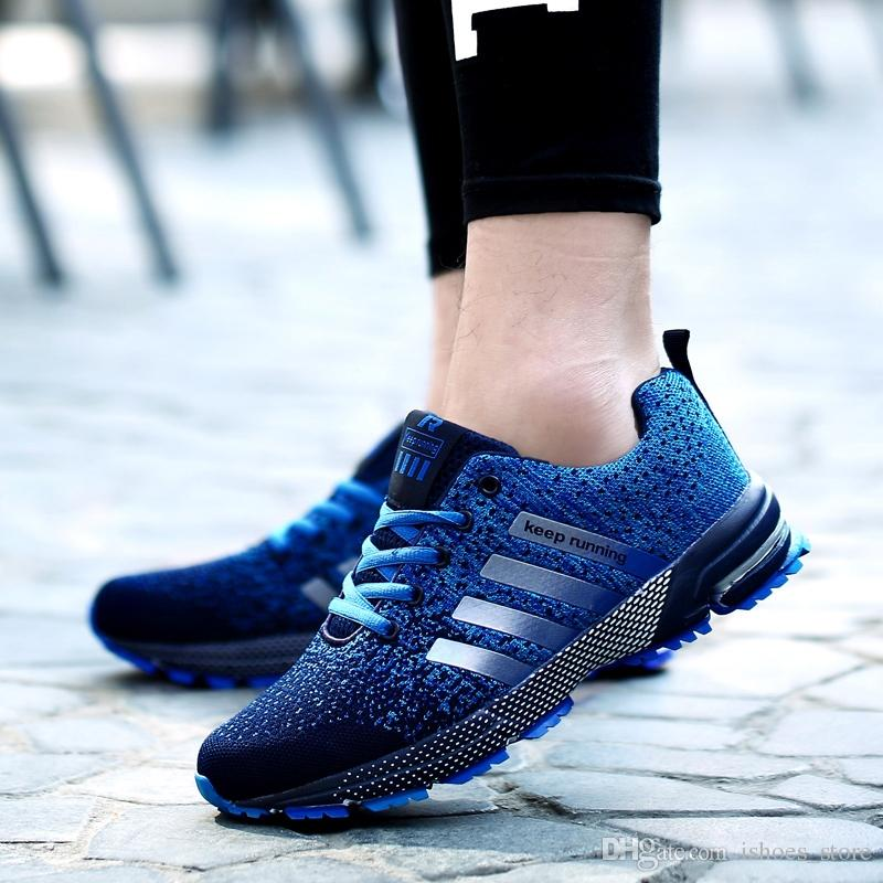2018 four seasons Hot Sale Fashion Trend man Shoes Comfortable Breathable  mesh Lace-Up Cheap Brand Lightweight Casual Footwear #98166